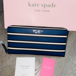 Kate Spade Large Continental Wallet Cameron Blue